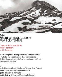 Alberto Bregani al MART per il Centenario della Grande Guerra