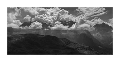 Replica Sigma Pano | 09 backilght and clouds on Camp Centener, Dolomiti di Brenta